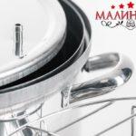 Домашняя коптильня с гидрозатвором «МАЛИНОВКА» Круглая