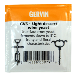 Дрожжи винные Gervin GV6 light dessent wine