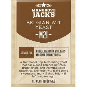 ДРОЖЖИ MANGROVE JACK'S BELGIAN WIT M21, 10 Г