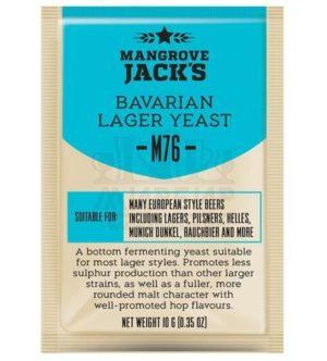 ДРОЖЖИ MANGROVE JACK'S BAVARIAN LAGER M76, 10 Г 3