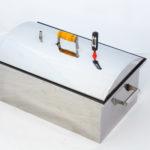 Коптильня с гидрозатвором «МАЛИНОВКА» овальная крышка, 22л