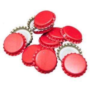 Кроненпробки красные, 80 шт