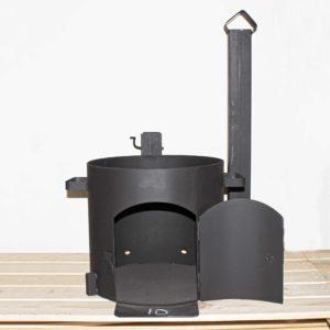 Печь под казан с дымоходом