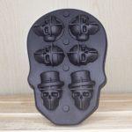 Форма для льда череп, 6 ячейки